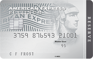 The American Express Platinum Reserve Credit Card