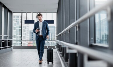 Employee Travelling for business on Business Travel Account