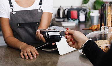 A Corporate Card Member making the transaction