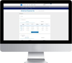 Keep track of transactions using American Express Go.