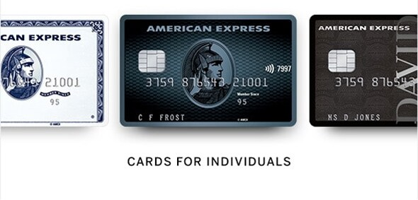 Cards for individuals from American Express.