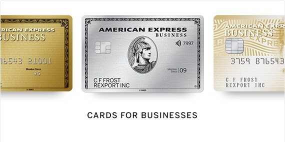 Cards for businesses from American Express.