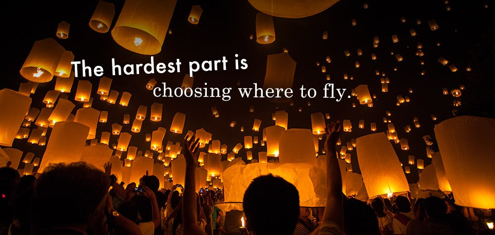 The hardest part is choosing where to fly.