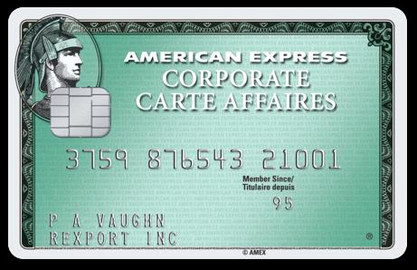 Corporate Card  Corporate Customer Centre  American Express Canada