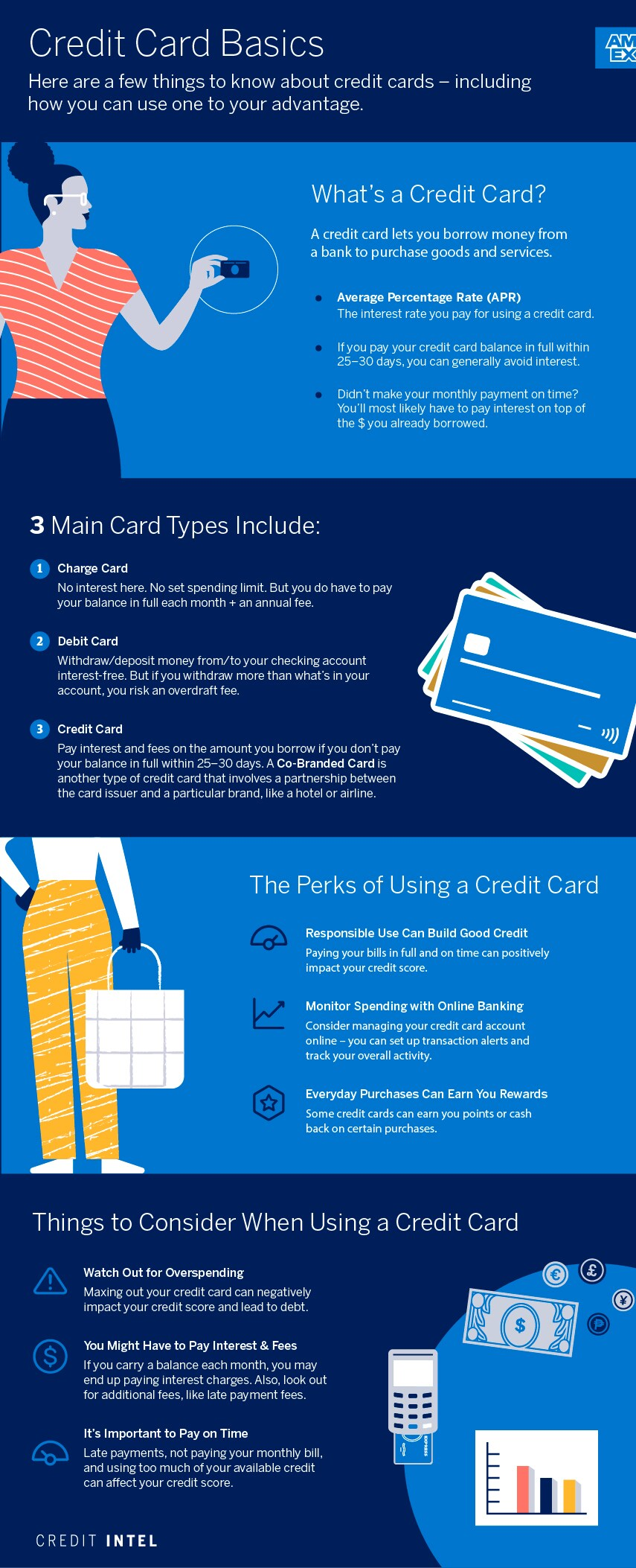 info-graphic what is a credit card