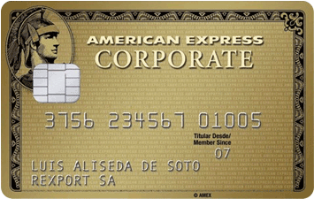 Tarjeta Corporate Gold American Express