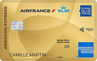 Carte AIR FRANCE KLM - AMERICAN EXPRESS GOLD