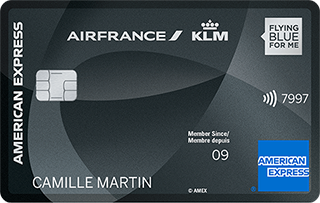 Carte AIR FRANCE KLM - AMERICAN EXPRESS PLATINUM