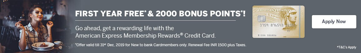 New Membership Reward Credit Card Offer