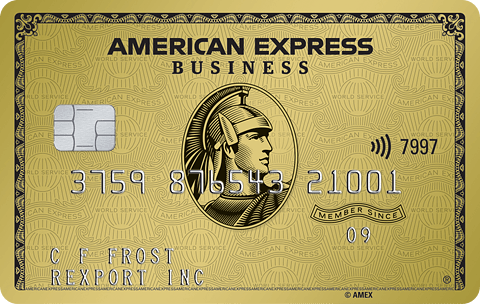 Business gold card image
