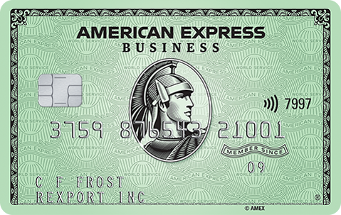 Business green card image