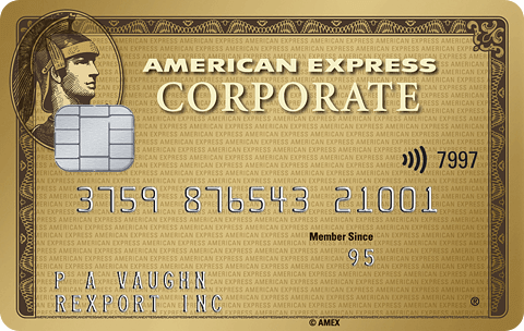 Corporate gold card image