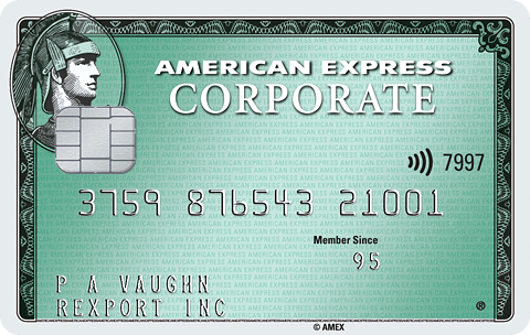 Corporate green card image