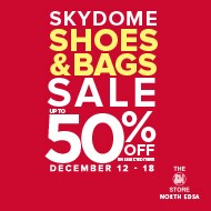 Up to 50% savings at Skydome Shoes and Bags Sale