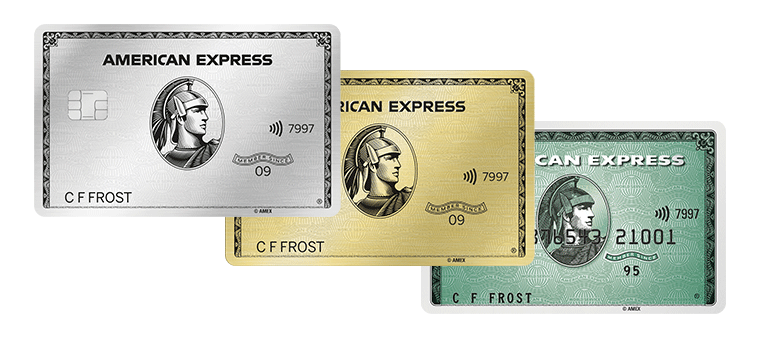Platinum, Gold Card and Green Card