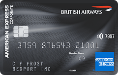The British Airways Amrican Express Corporate Card Plus