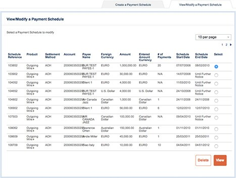 The American Express payment scheduling tool provides you the flexibility to view and modify your payment schedules.