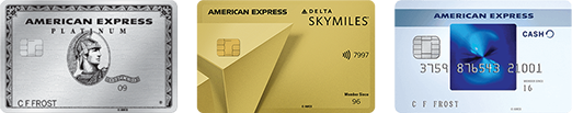 American Express credit card offers based on user's credit score