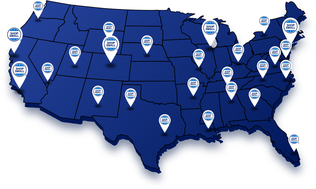 Shop Small Map American Express