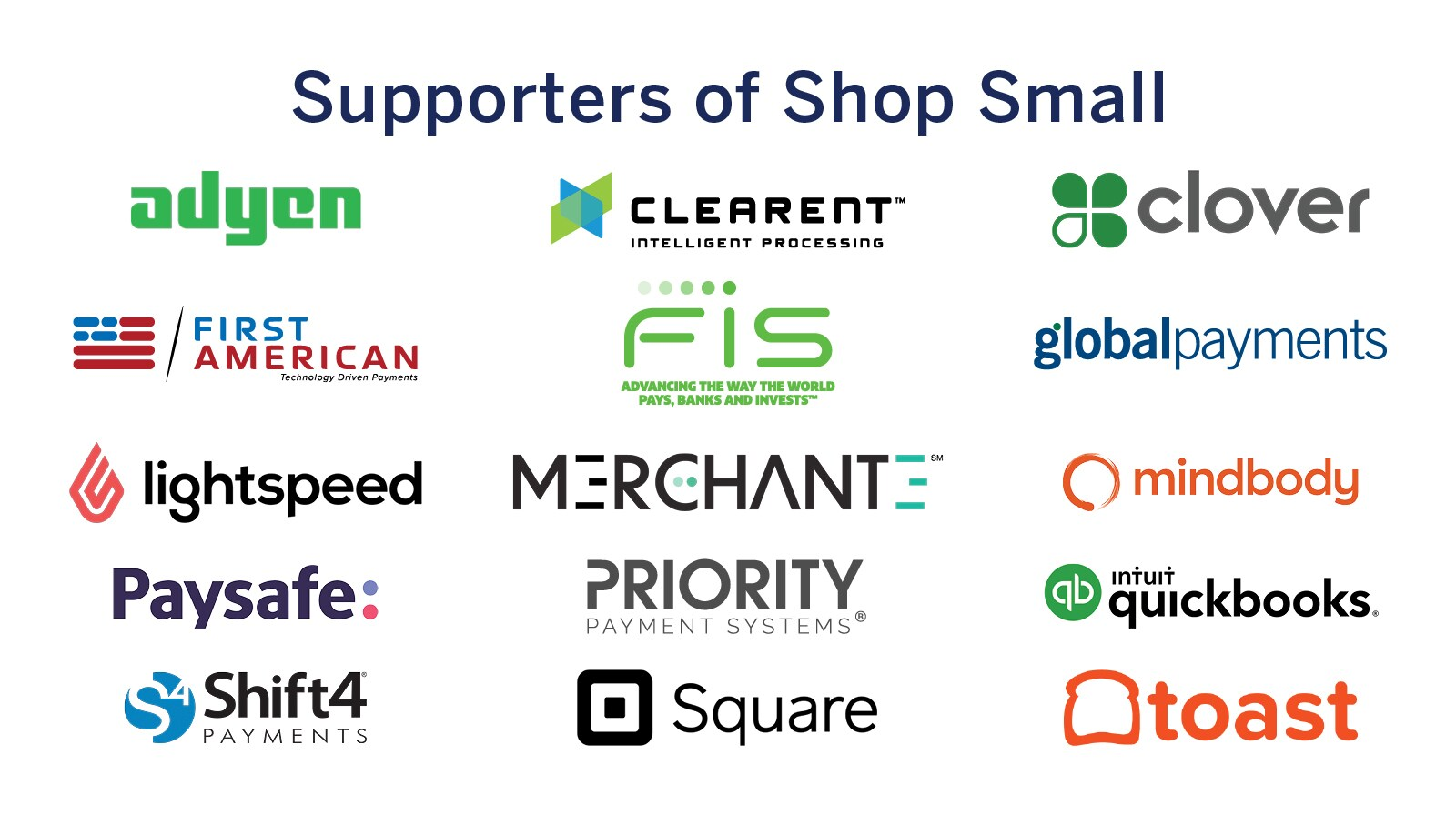 Supporters of Shop Small