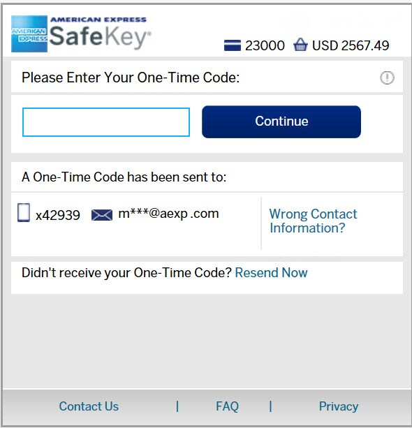 American Express Checkout >> Safekey Amex Security Code Feature American Express Uk