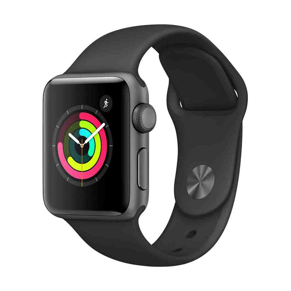 Apple Watch Series 3 GPS, 42mm Space Grey Aluminium Case with Black Sport Band MTF22ZD/A