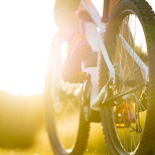 Nahaufnahme eines elektrischen Mountainbikes