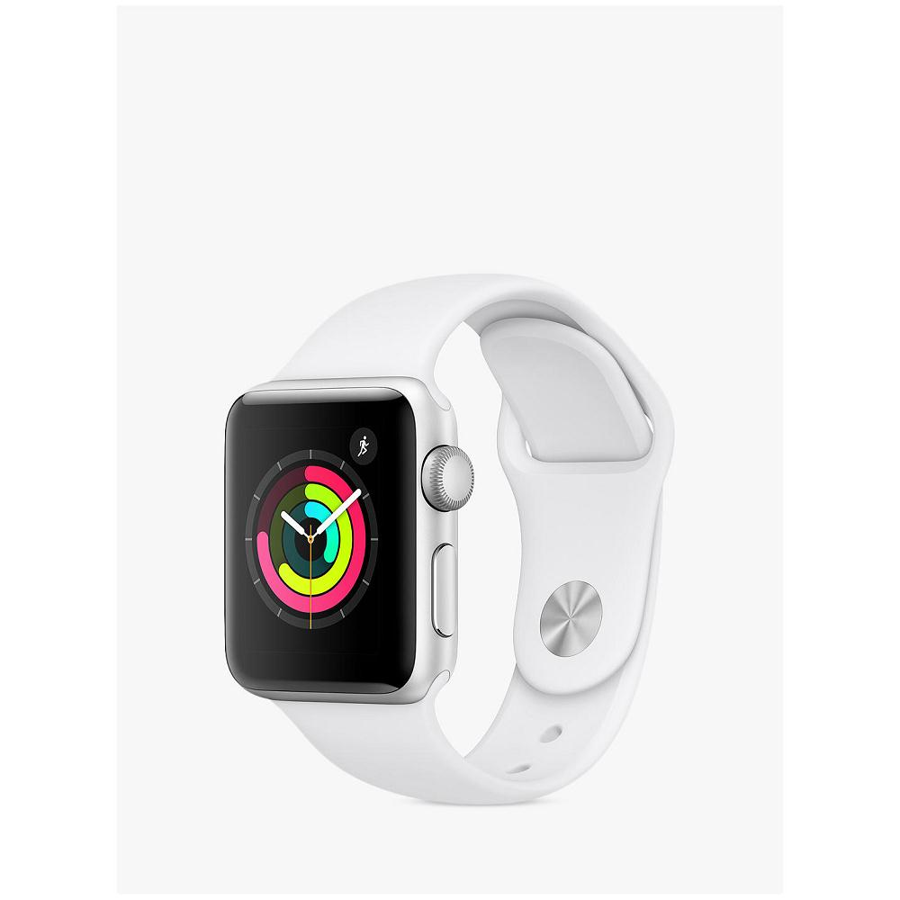 Apple Watch Series 3 GPS, 38mm Silver Aluminium Case with White Sport Band MTF02TD/A