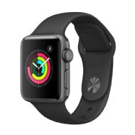 Apple Apple Watch Series 3 GPS, 42mm Space Grau Aluminiumgehäuse mit Sportarmband in Space Grau MR362ZD/A