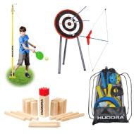 Hudora Outdoorspiele Set 4-teilig 76171/76459/77460/78115