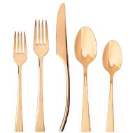 linkToText Zwilling JA Henckels Bellasera Rose Gold 20 Piece Flatware Set detailsPageText