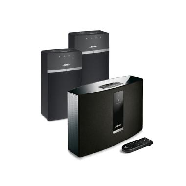 Bose<sup>®</sup> SoundTouch<sup>®</sup> 20 Series III wireless music system with 2x SoundTouch<sup>®</sup> 10 wireless systems (Black)
