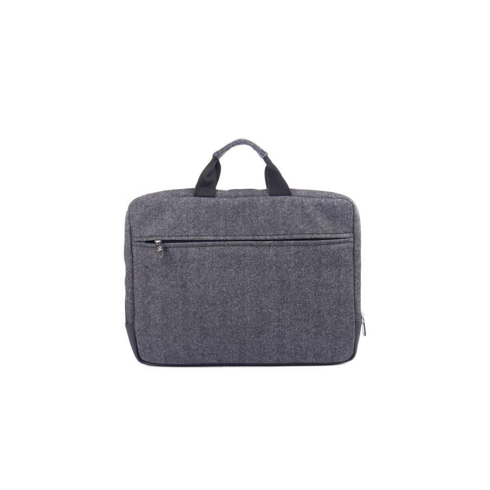 Bugatti Matt Laptop Sleeve In Polyester (Grey/Black)
