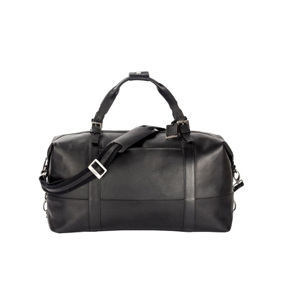 Bugatti Soledad Columbian Leather Duffel Bag (Black)