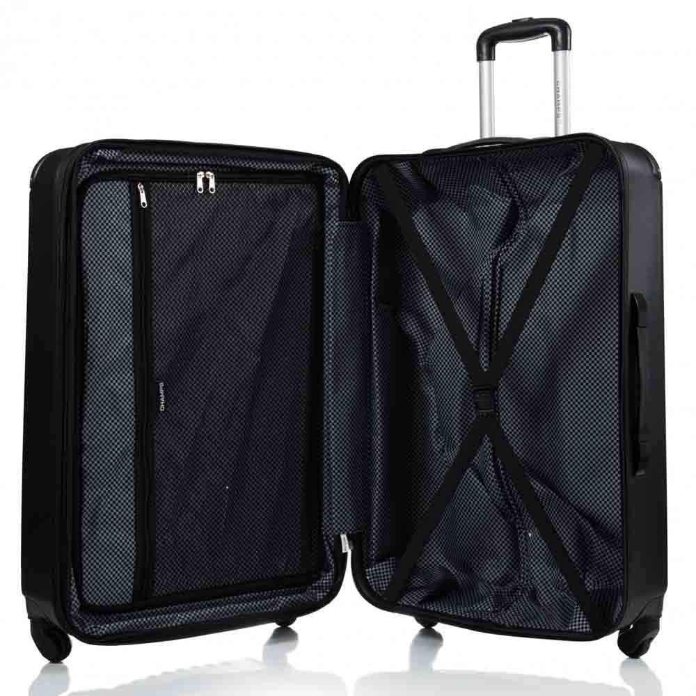Champs Tourist 2 Piece Hardside Luggage Set (Silver)