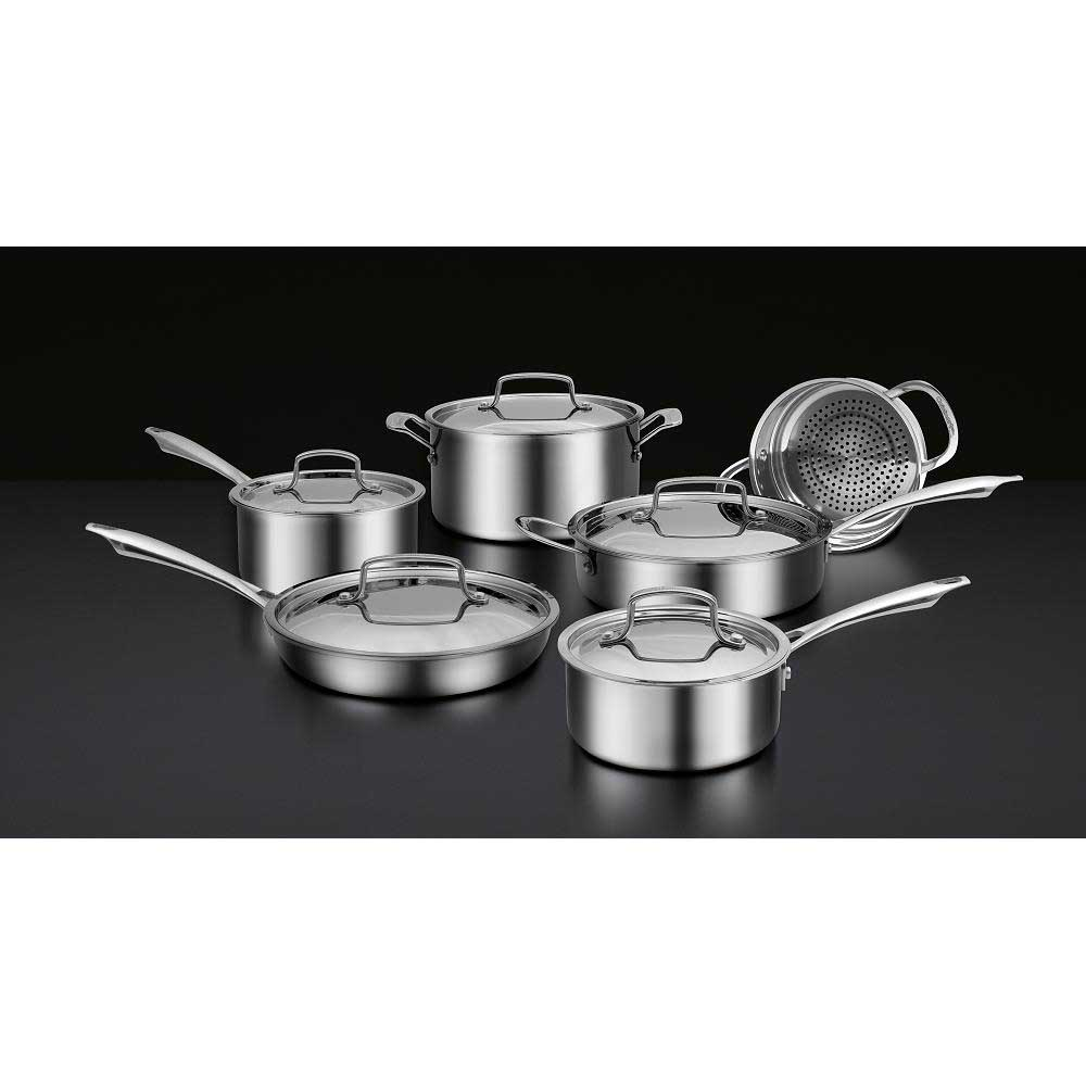 Cuisinart Professional Series 11 Piece Tri-Ply Cookware Set