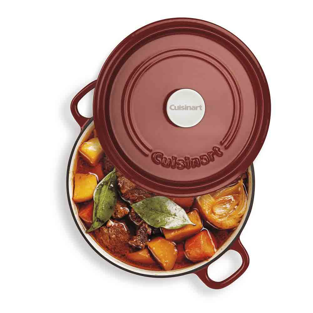 Cuisinart<sup>®</sup> Cast Iron 4 L Casserole with Self-Basting Cover (Red)