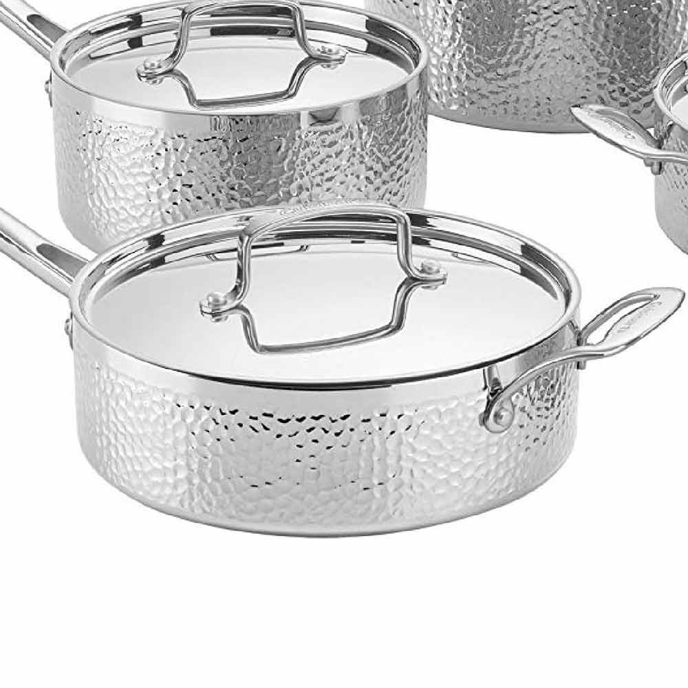 Cuisinart 8 piece Tri-Ply Hammered Set