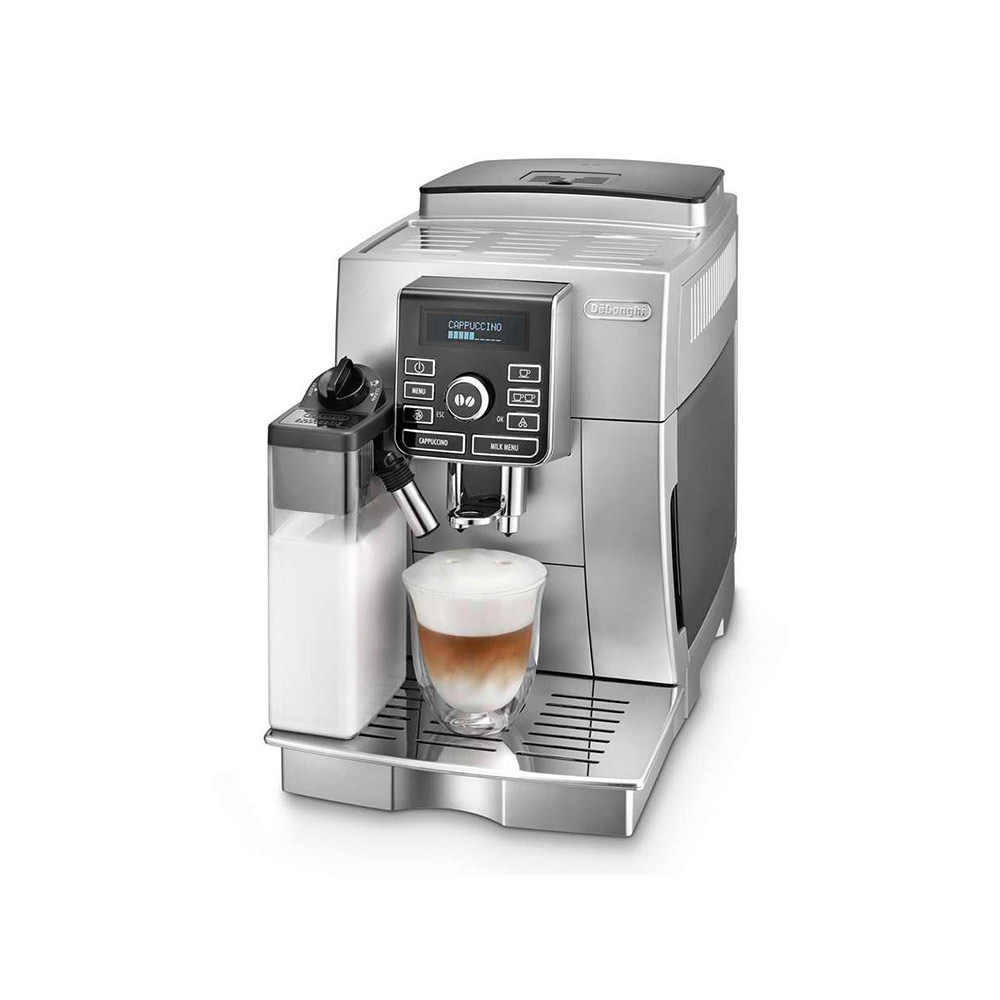 De'Longhi Magnifica S Fully Automatic Espresso and Cappuccino Machine with One Touch LatteCrema System and Milk Drinks Menu (Silver)