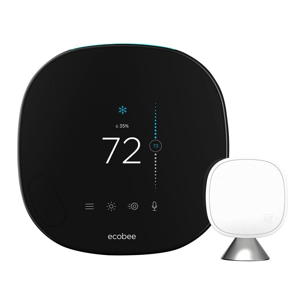 Ecobee Smart Wi-Fi Thermostat Ecobee4 with Room Sensor with built-in Alexa Voice Service
