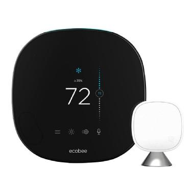 Ecobee Smart Wi-Fi Thermostat Ecobee5 with Room Sensor with built-in Alexa Voice Service