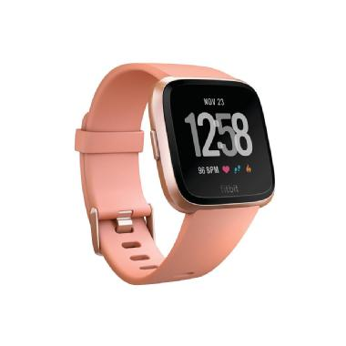 Fitbit Versa Watch (Rose Gold) Aluminum Case with Band (Peach)