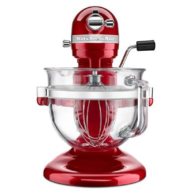 KitchenAid<sup>®</sup> Professional 6500 Design<sup>™</sup> Series bowl-lift Stand Mixer (Candy Apple Red)