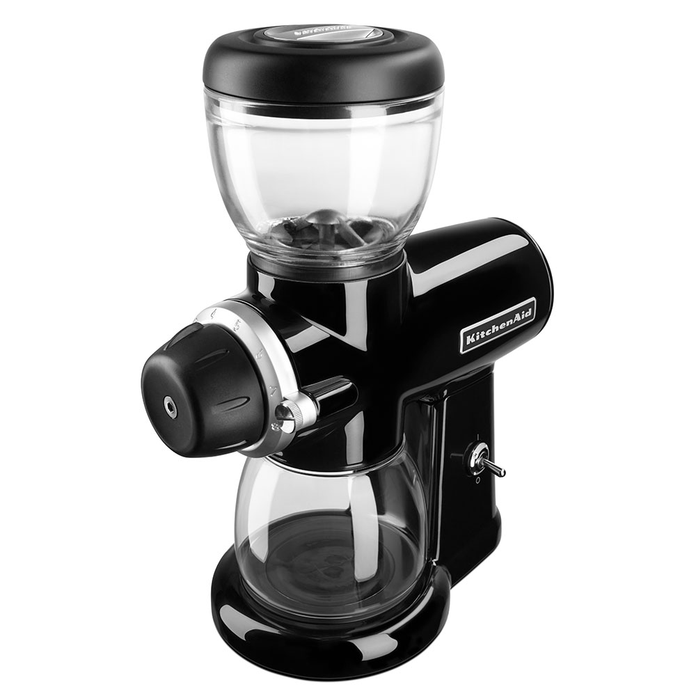 KitchenAid<sup>®</sup> Burr Coffee Grinder with Glass Bean Hopper and Grind Jar (Onyx Black)
