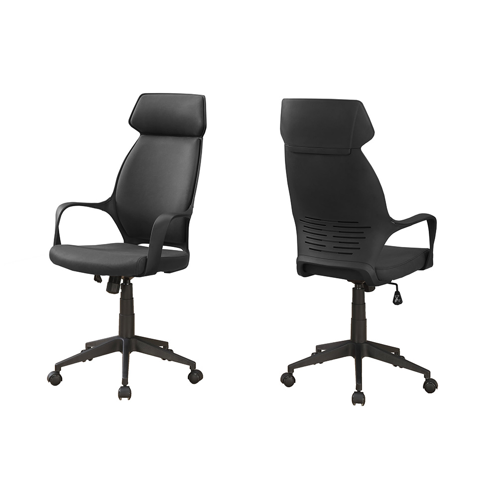 Monarch High Back Executive Microfiber Office Chair (Black)