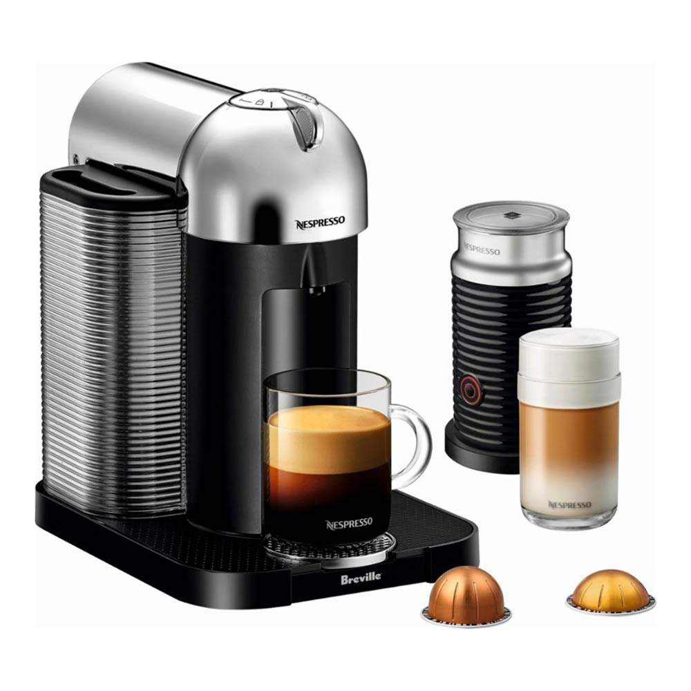 Nespresso Vertuo Coffee Machine by Breville with Aeroccino (Chrome)