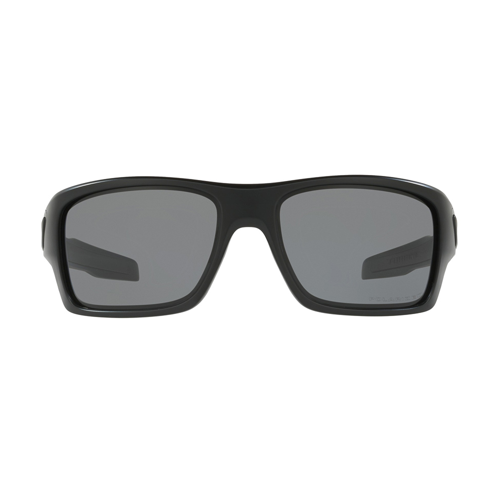 Oakley Turbine Men's Sunglasses Matte Black Frame with Warm Grey Lenses
