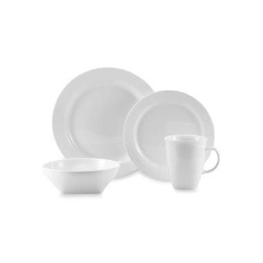 Oneida Chef's Table 16 Piece Round Dinnerware Set (White)