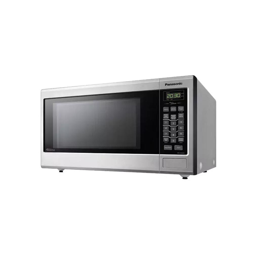 Panasonic 1.2 Cu. Ft. Countertop  Family Size Genius<sup>®</sup> Inverter<sup>®</sup> Stainless  Steel Microwave