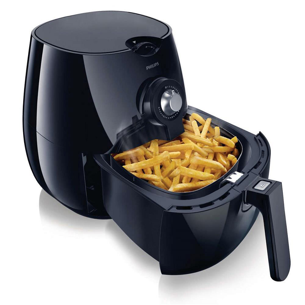 Philips Viva Collection Airfryer with Rapid Air Technology (Black)